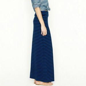 J. Crew Striped Maxi Skirt XXS 00